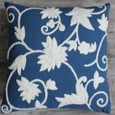 Kissen Wedgewood blue/natur