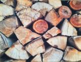 Tischset Kamin Holz